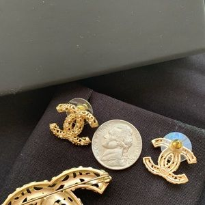 CHANEL Jewelry - Authentic Chanel Brooch and Earring set